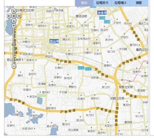 昆山市周市镇与淀山湖镇地图; 淀山湖; 昆山周市地图